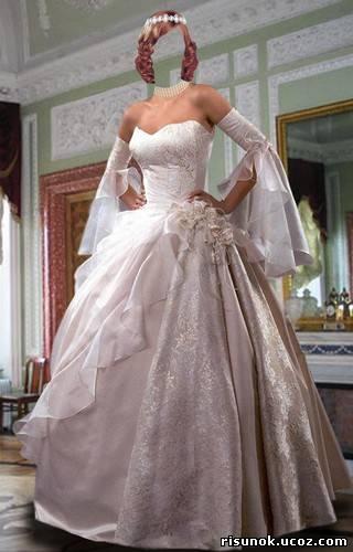 Фотошоп онлайн с свадебными платьями